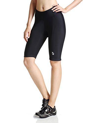 Baleaf Women's Cycling Padded Shorts Black UPF 50+ Size L
