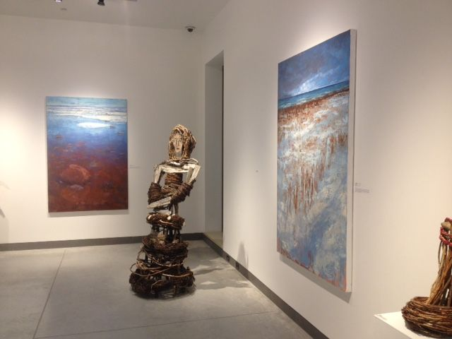 Sky to Shore Exhibit at Quest Art Gallery, Midland Ontario, inspired by Georgian Bay Shorelines