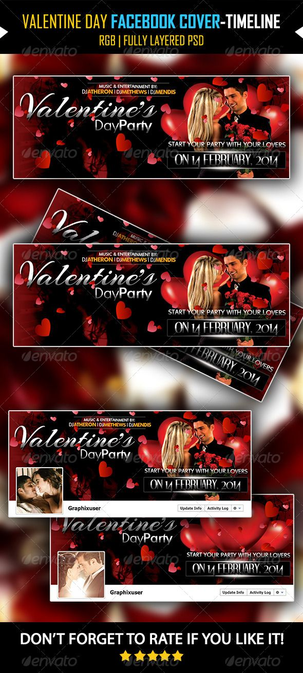 Valentine Day Facebook Cover V03 -Timeline Cover  #GraphicRiver