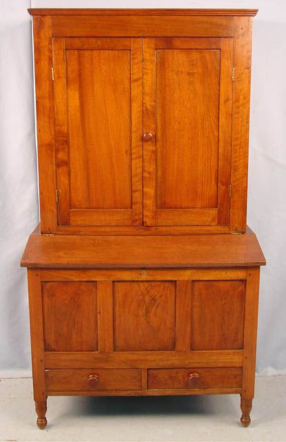 1506 - Rare Walnut Sugar Cupboard ca. 1840, 39.5in. W x 5ft - 327 Best Antiques Images On Pinterest Cabinet Furniture
