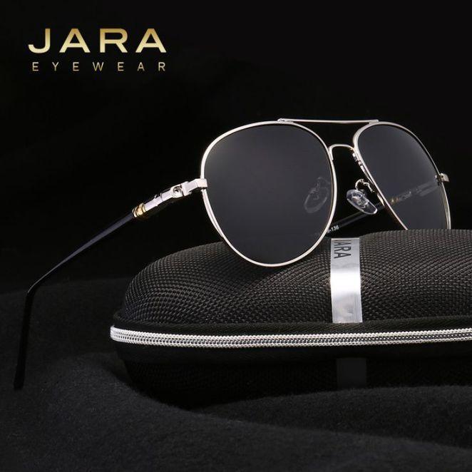 Tendance lunettes : JARA Brand Best Men's Sunglasses Polarized Night Vision Lens Big Oversize Ey