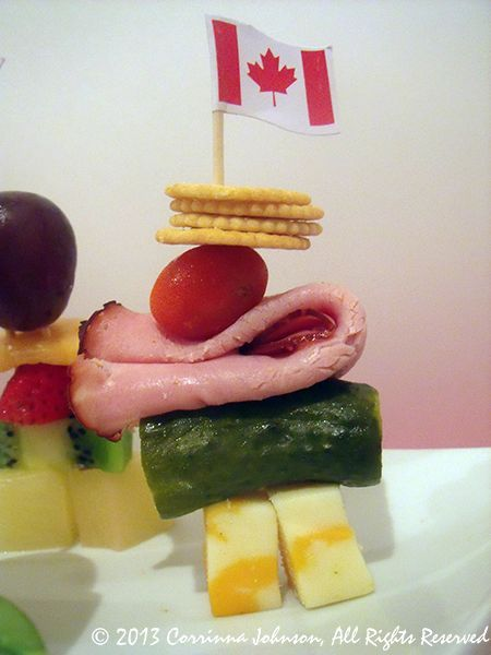 Meat, Cheese & Cracker Inukshuk Snacks For Canada Day Parties And BBQ's
