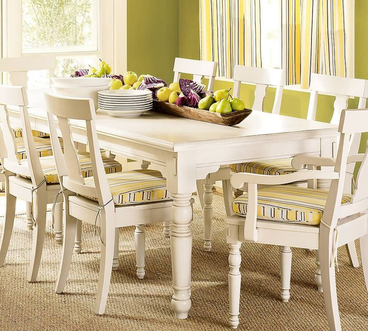 White Dining Set, Traditional Dining Room Ideas By Pottery Barn