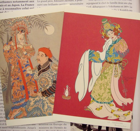 Post cards was to restore the work of Paul Jacoulet. Karuizawa Japan