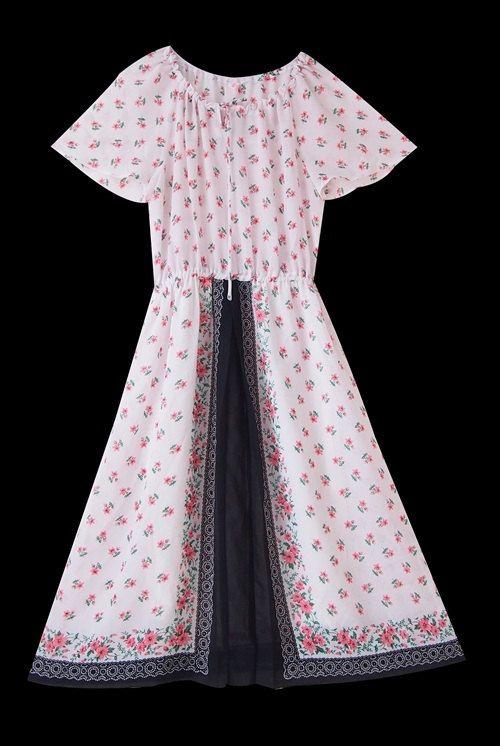 Vintage dress japanese / Chiffon / Painting Dress / by LPSNUG