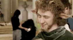 James McAvoy behind the scenes of The Lion, the Witch and the Wardrobe