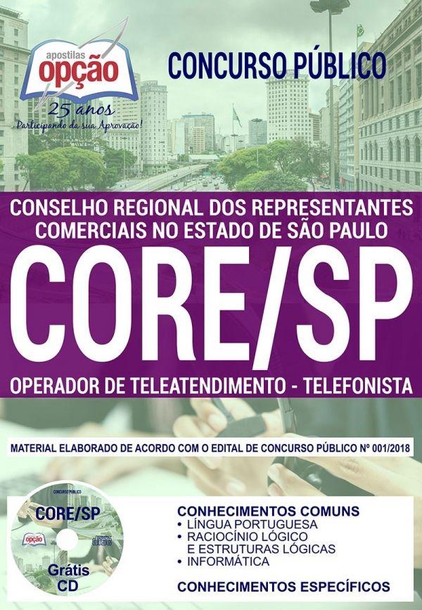 Concurso Core Sp 2019 Apostilas Opcao Concurso Concursos
