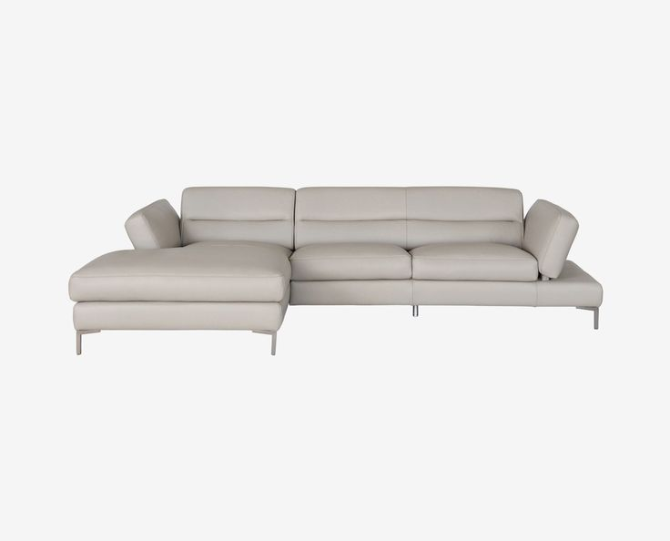 CAMPSIS LEATHER SECTIONAL LEFT CHAISE
