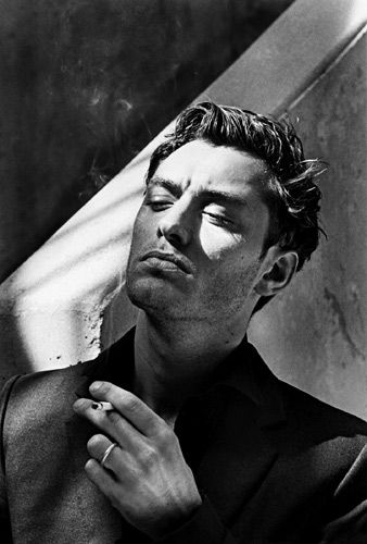 "Not sure where to put this pic, so I chose ""Bucket List"" !!! Jude Law by   Helmut Newton, Monte Carlo 2001"