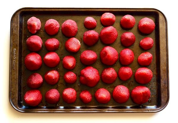 How to Freeze Strawberries - at TheFrugalGirls.com
