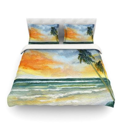 Found it at Wayfair - End of Day by Rosie Brown Beach Featherweight Duvet Cover