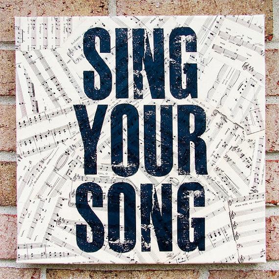 singSinging, Musicquotes, Songs, Music Quotes, Sheet Music, Antiques Sheet, Quotes Art, Quote Art, Vintage Sheet