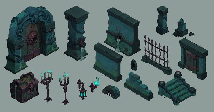 Assets designed for a personal project.