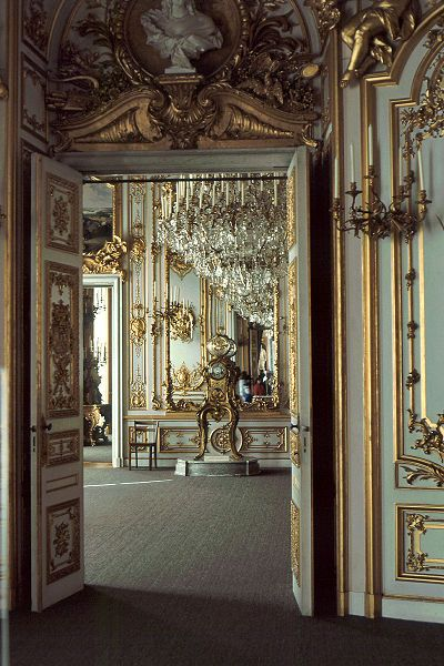Herrenchiemsee Palace ~ Bavaria ~ Germany ~ One of Ludwig II's many castles. Remarkable to tour, not just for the splendor of the rooms and the grounds, but for the dramatic contrast with the unfinished remainder of the palace.