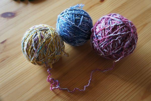 zwischengeflecht   Wolle spannen