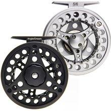 3/4 5/6 7/8WT Fly Reel Silver Black Die casting Large Arbor Aluminum Fly Fishing Reel
