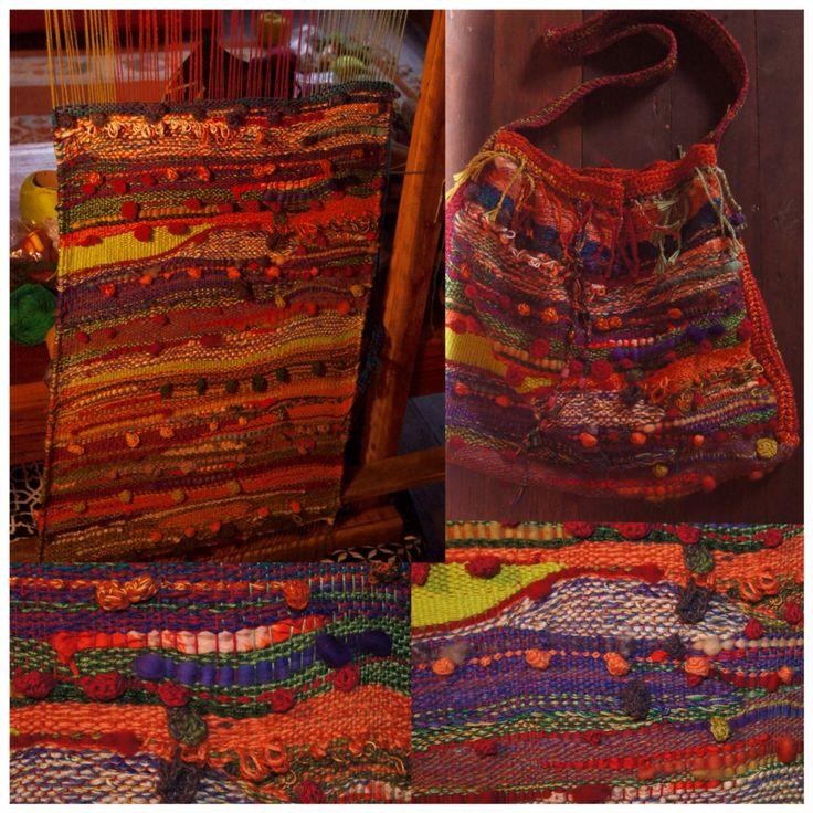 My first Saori weaving project.