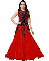 Lady Fashion Villa red designer salwar suit