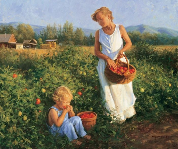 tomato picking by Robert Duncan