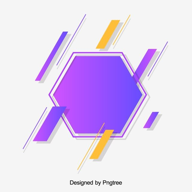 Stylish Modern Abstract Gradient Line Hexagon Element In 2020