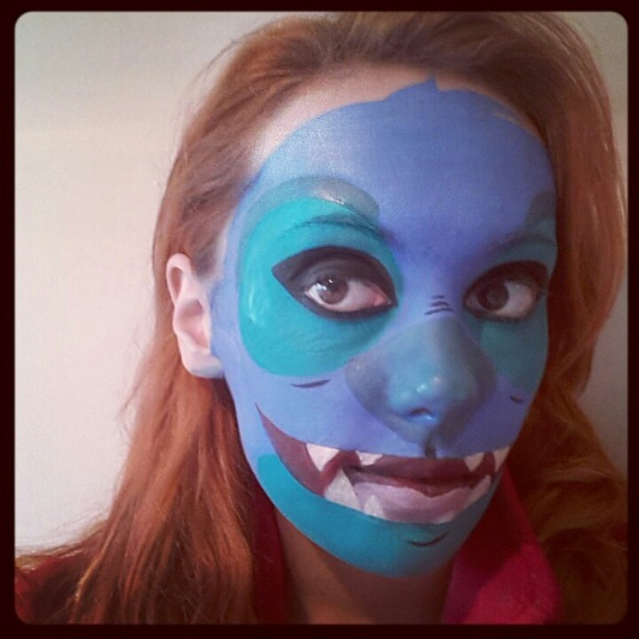 Stitch face paint design from lilo and stitch by