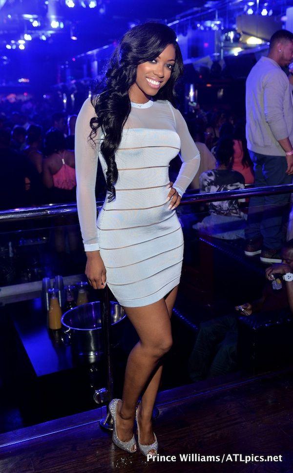 Splurge: Porsha Williams's Club Reign Balmain Blue Sheer Devore Sleeve Mini Dress - The Fashion Bomb Blog : Celebrity Fashion, Fashion News,...