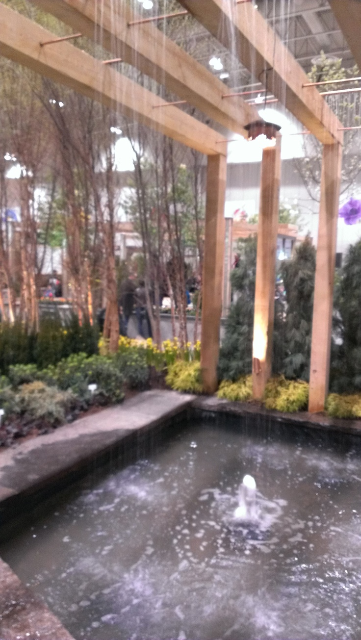 Copper Pipes Over Your Pond Lovely Waterfall Idea Feels