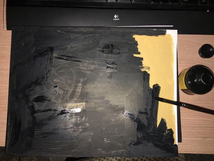 5. Cubriendo de tinta china.