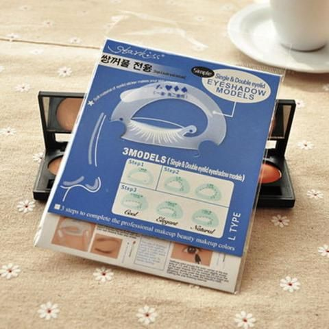 BD 1Set  Shaping Assistant Template Eyeshadow Drawing Card MakeUp Stencil