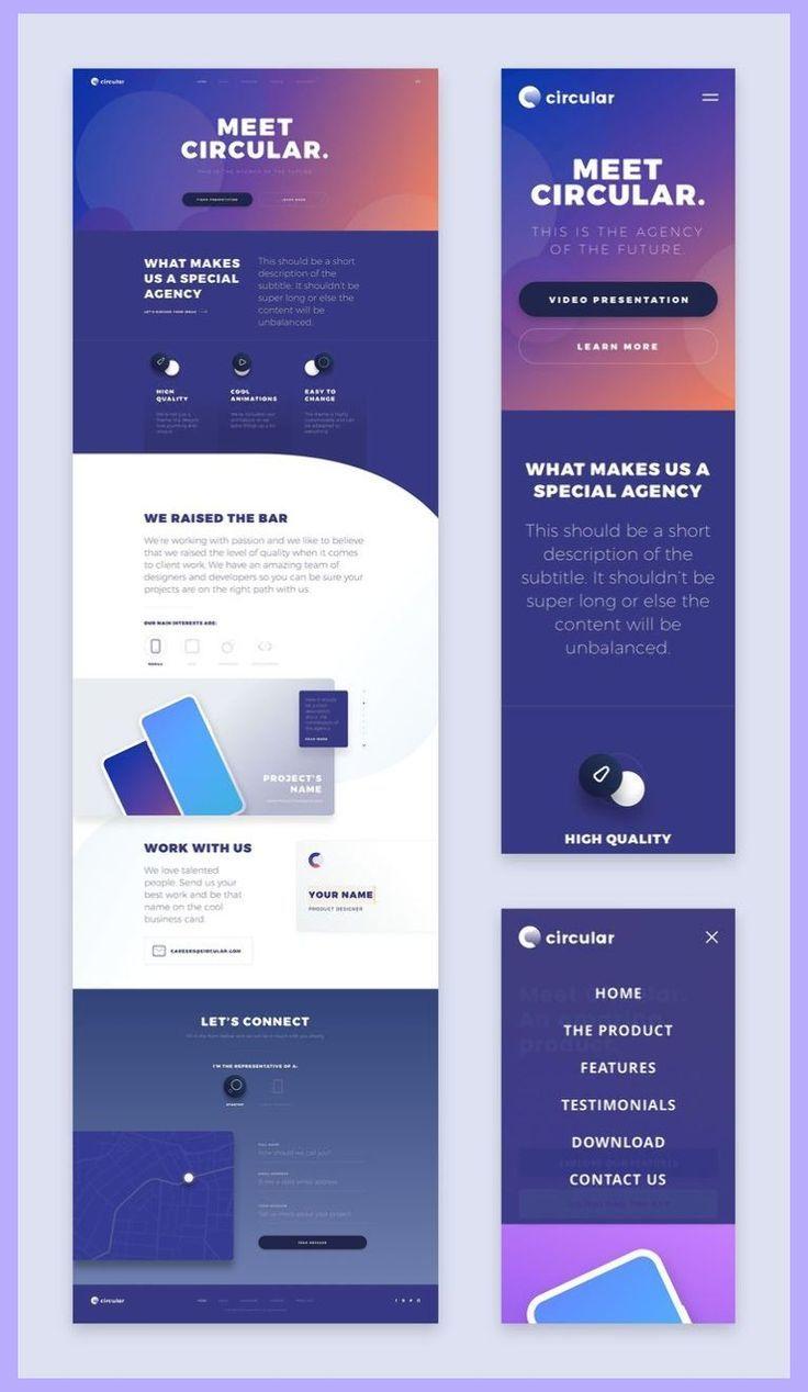 Websites Mobile Web Design Responsive Web Design Layout Web Design