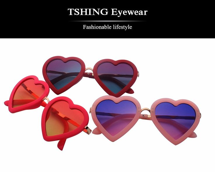 Дети любят в форме сердца симпатичные солнцезащитные очки мода детей мальчики девочки UV400 зеркальные солнечные очки новый ребенок óculos de sol купить на AliExpress