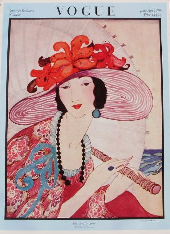 Vintage VOGUE Cover Poster - Summer Fashions Number - June 1919. $14.50, via Etsy.