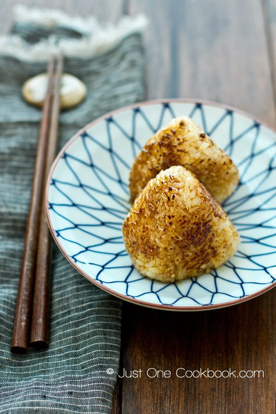 Yaki Onigiri   Grilled Rice Ball   JustOneCookbook.com