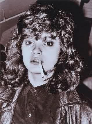 Gia Carangi. Candid at Studio 54. Unknown date.