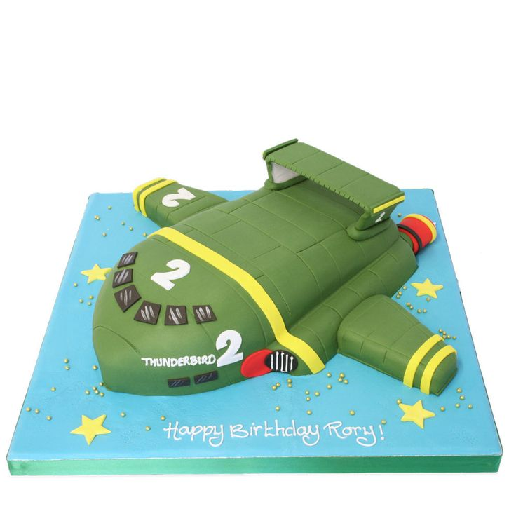 The Cake Store - Thunderbird 2 Cake, £145.00 (http://www.thecakestore.co.uk/thunderbird-2-cake/)