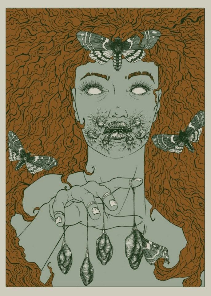 Moth Lady illustration by Olga Sienkiewicz