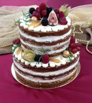 Naked cake for christmas