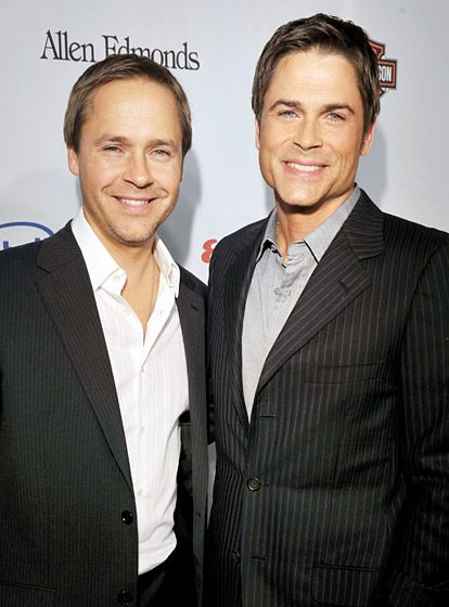 Chad and Rob Lowe... both good looking guys but Rob was always the better looking one. He's still dreamy as hell.