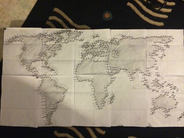 32 best welt images on pinterest string art world maps and shared by pallet project string and nail world map sciox Gallery