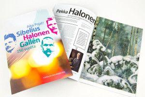 Sibeliuksen Halosen Gallen – jubilee visual identity. Intro Design.