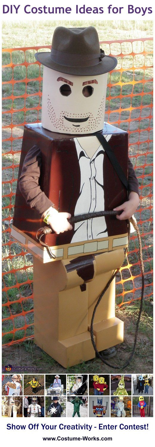 Lego Indiana Jones - a lot of DIY costume ideas for boys!
