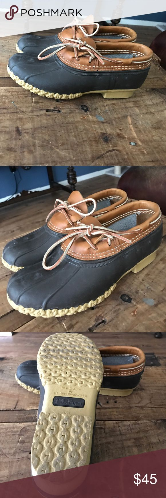 LL Bean duck boots RePosh. Love these but they were listed as a 9 and I would say these fit like a 9.5. There is not tag to say what size they actually are. Super comfy,like new, no signs of wear. L.L. Bean Shoes Ankle Boots & Booties