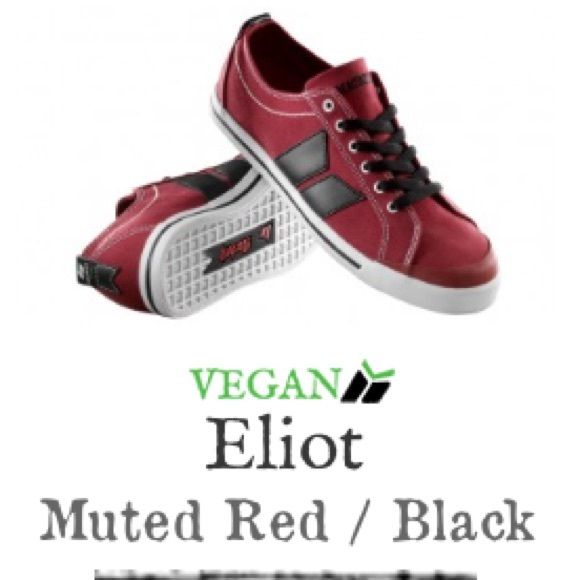 Men's Macbeth Footwear: Eliot Muted Red/Black Red & black canvas shoe with white bottom. NEVER BEEN WORN! BRAND NEW!! Hot Topic Shoes