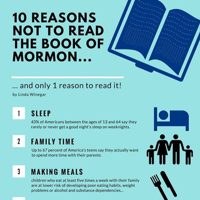 "Who's got time to read The Book of Mormon?  With so much going on in our lives its easy to skip the most important and most essential thing.  Here's my list of why I don't have time to read the The Book of Mormon why I totally didn't even ""get to it"" today {sad & crying face emoticon} and how a 10 Day Book of Mormon Challenge would be literally impossible for me because I couldn't even read one verse today.   #10ReasonsWhy #TheBookofMormon #NotEnoughTime #Excuses #Goals #Challenges…"