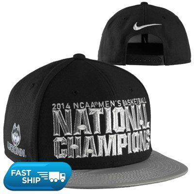 Nike UConn Huskies 2014 NCAA Men's Basketball National Champions Players Locker Room Snapback Hat - Black/Gray