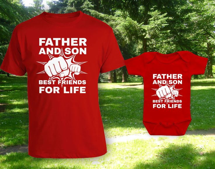 Father and Son Best Friends for Life matching father son t-shirts, father's day gift, gift for dad, when is fathers day,bodysuit-CCB-604-604 by CottonCandyBabyGifts on Etsy