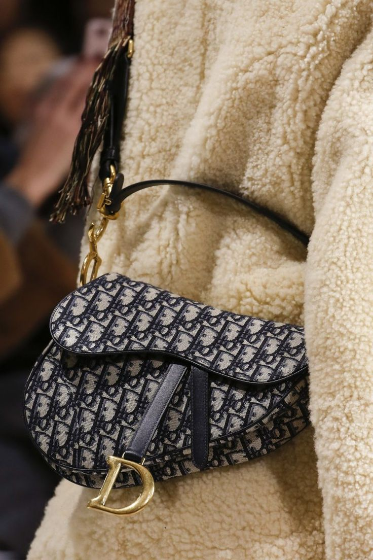 Dior Blue Oblique Print Saddle Bag Fall 2018 Fall
