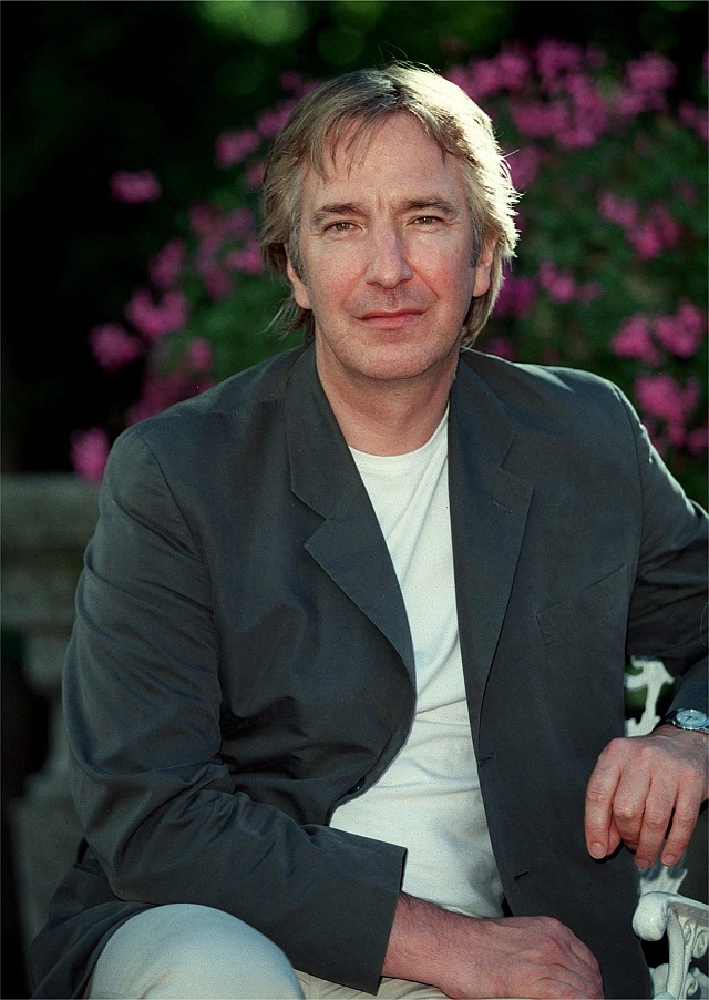 "1997 -- Alan Rickman during an interview about the movie ""A Winter Guest"" that he was directing."