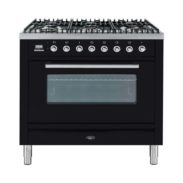 Boretti-fornuis LINEA INIZIO 90 cm klasse A, oven 89 liter