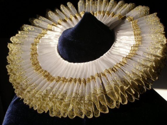 Elizabethan  Ruff   Golden  Age by CostumeRenaissance on Etsy, $184.00
